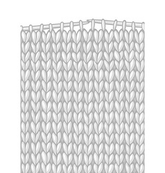 Stockinette stitch and knitting needles vector