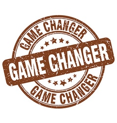 Game changer brown grunge round vintage rubber vector