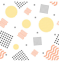 abstract trendy minimal background memphis style vector image vector image