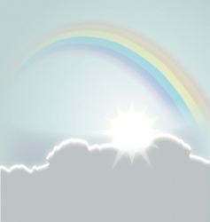 beautiful sky vector image