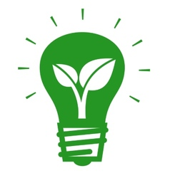 Bulb with leaf vector image