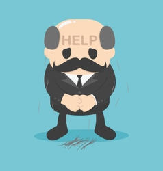 Businessman help who have problems with hair loss vector