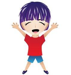 Cartoon Happy Boy vector image vector image