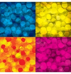 Colorful abstract backgrounds with round objects vector image vector image