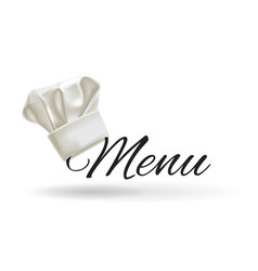Cook hat menu chef hat vector