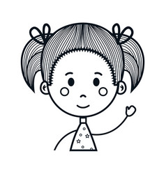 cute little girl drawing character vector image vector image