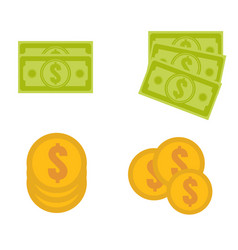 dollar stack us set vector image