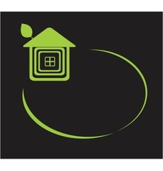 eco home symbol icon vector image vector image