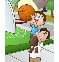 family basketball vector image vector image
