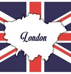 Flag london england design vector