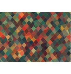 Flat triangle retro color geometric background vector