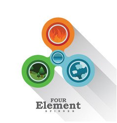 four element spinner vector image vector image