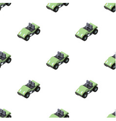Golf cart icon in cartoon style isolated on white vector