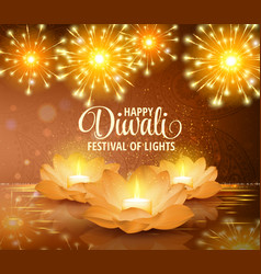 Happy diwali festival of light background vector