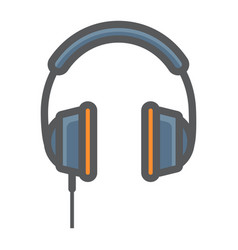 headphone colorful line icon listen and music vector image vector image