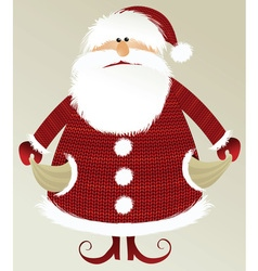 Holiday background with poor santa claus vector