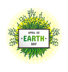 international earth day april 22 vector image vector image