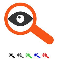 Investigate flat icon vector