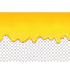 Lemon or honey jelly drops seamless pattern vector