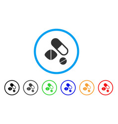 medication pills rounded icon vector image