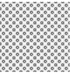 Monochrome seamless star pattern - geometrical vector