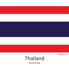 National flag of thailand with correct proportions vector