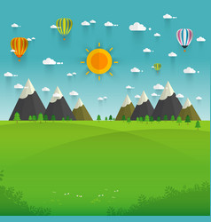 Natural landscape in the flat style a beautiful vector