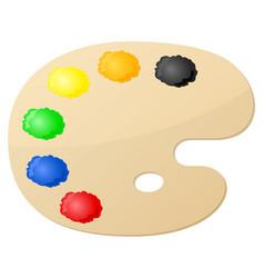 Paint palette vector