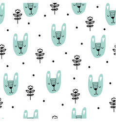 Scandinavian kids pattern vector