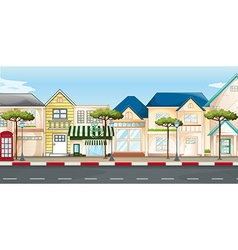 Shops and stores along the street vector image