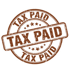 Tax paid stamp vector
