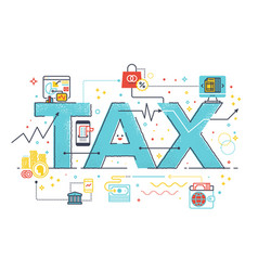 tax refund business concept vector image vector image