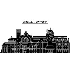 Usa bronx new york architecture city vector