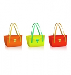vector colorful bags vector image vector image