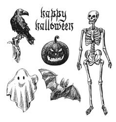 Happy halloween sketch vector image