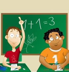 Schoolmates vector image