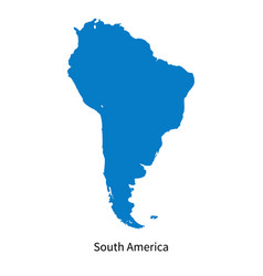 Detailed map of south america region vector