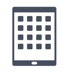 tablet computer icon vector image