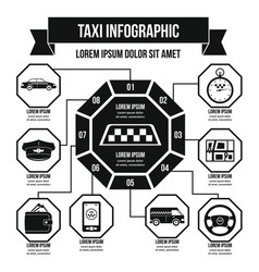 Taxi infographic concept simple style vector