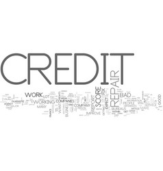 What to expect from a credit repair company text vector
