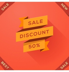 Sale discount paper folding design vector