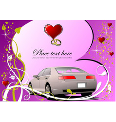 Valentines day greeting card invitation card vector
