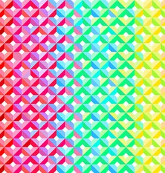 Rainbow Geometric Pattern vector image