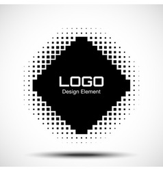 Abstract halftone logo design element raster vector