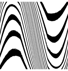 Grunge Lined Wavy vector image