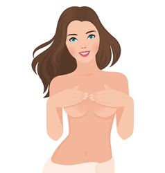 Beautiful topless girl vector