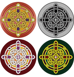 button with Celtic vector image
