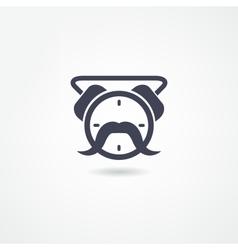 alarm clock icon vector image vector image