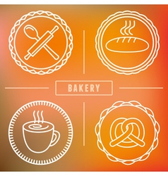 bakery icon badge vector image vector image