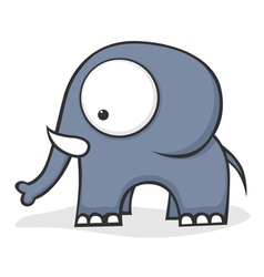 big eyed elephant vector image vector image
